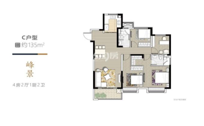 和峰南岸  4室2厅1厨1卫