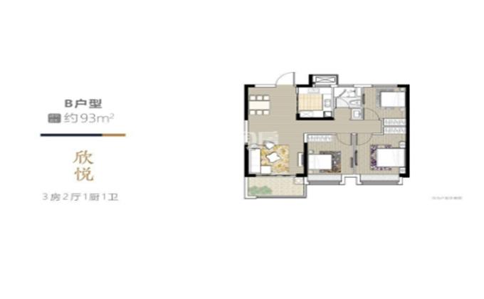 和峰南岸  3室2厅1厨1卫