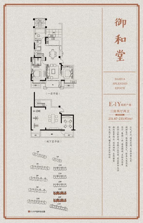 大华锦绣时代  3室2厅1厨2卫