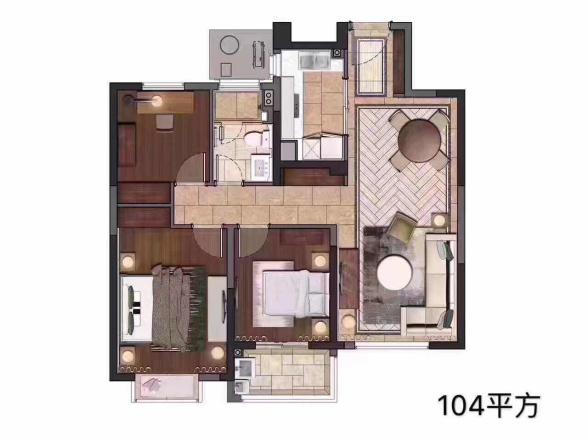 中储泛悦城市广场  3室2厅1厨1卫