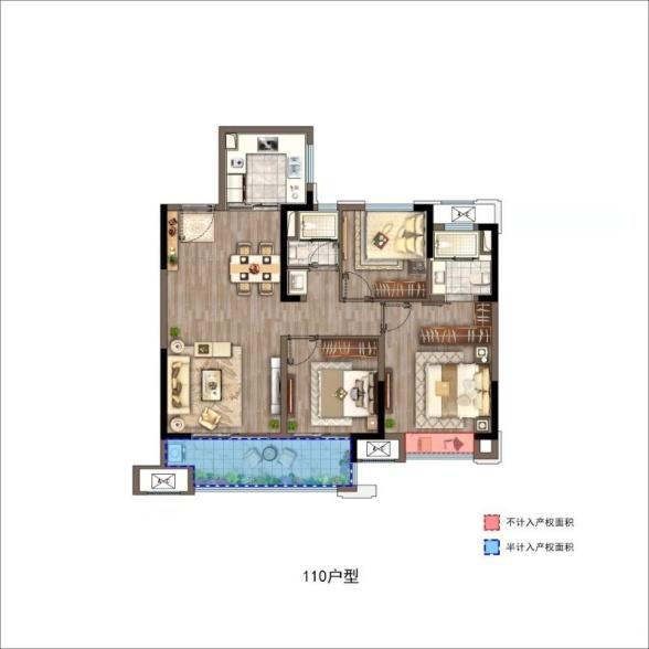 悦江府  3室2厅1厨2卫