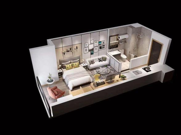 望东国际巧寓  1室1厅1厨1卫