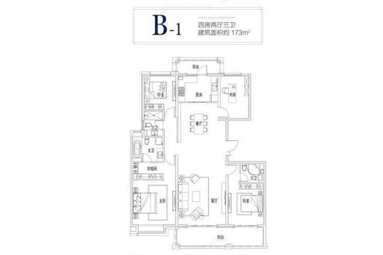 中冶盛世滨江  4室2厅1厨3卫