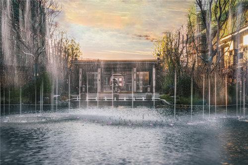 景德镇新房楼盘中式园林恒大珑庭园林效果图