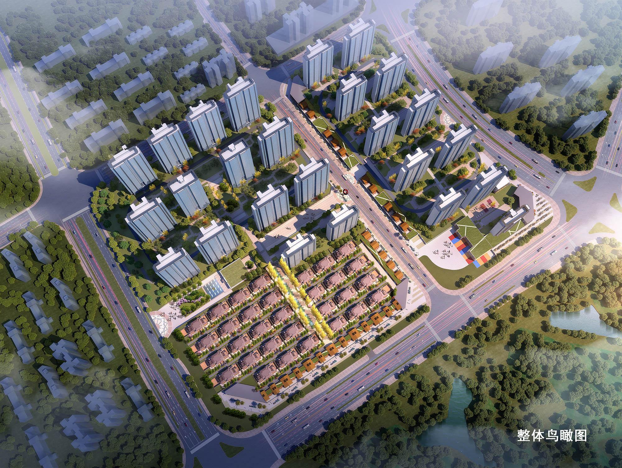 萍乡楼市新房天润·海棠湾楼盘鸟瞰效果图