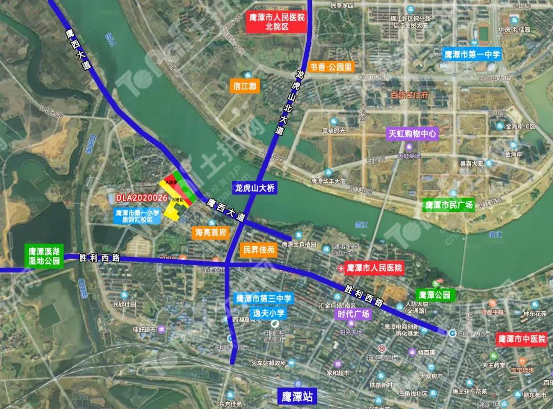 鹰潭市月湖区DLA2020026地块卫星图
