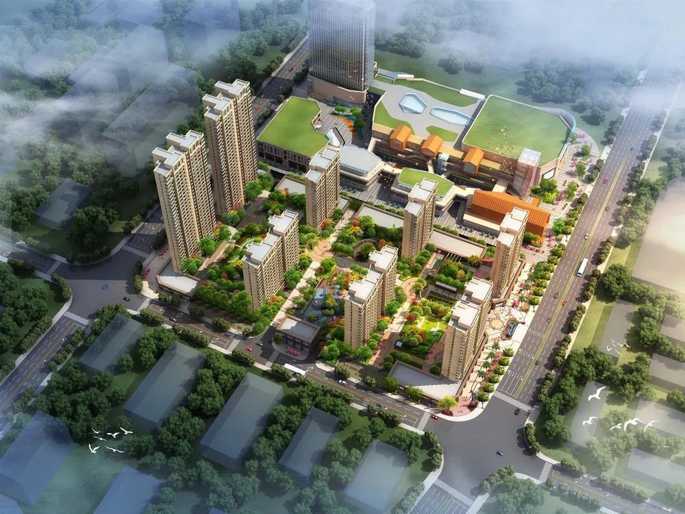 萍乡楼市新房亿航·紫云家园楼盘鸟瞰效果图