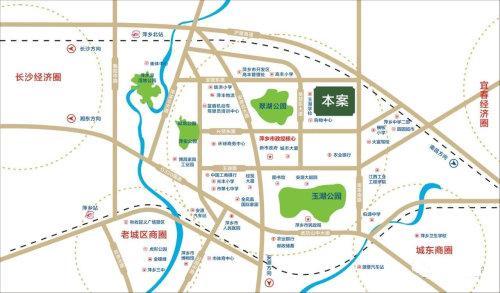 萍乡楼市新房翰林悦府区位示意图