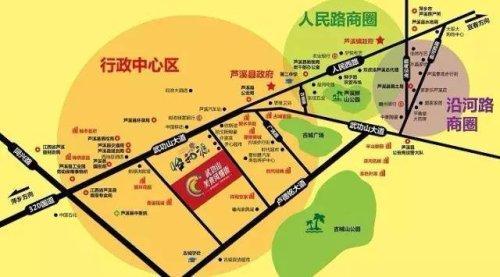 萍乡楼市新房怡和源天悦城楼盘区位示意图