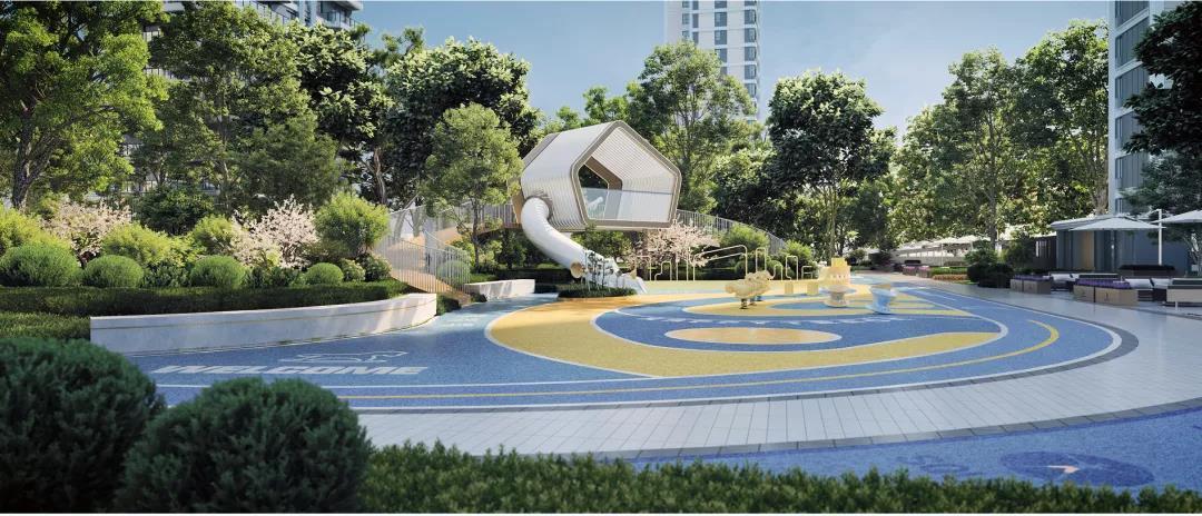 东胜·天御楼盘设计凸显立体沉浸主义,极富诗意的造园艺术