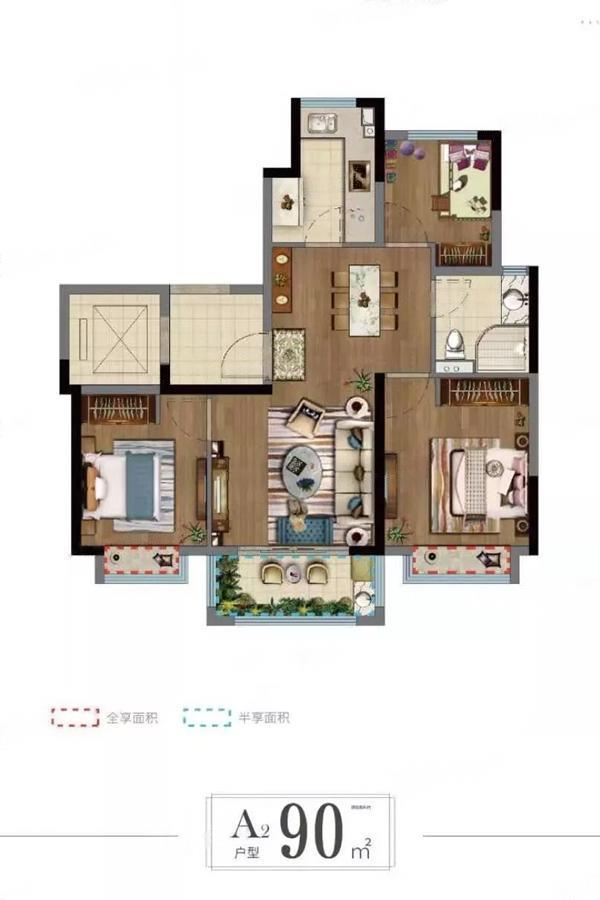 悦峯  3室2厅1厨1卫