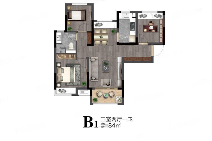 望东国际  3室2厅1厨1卫