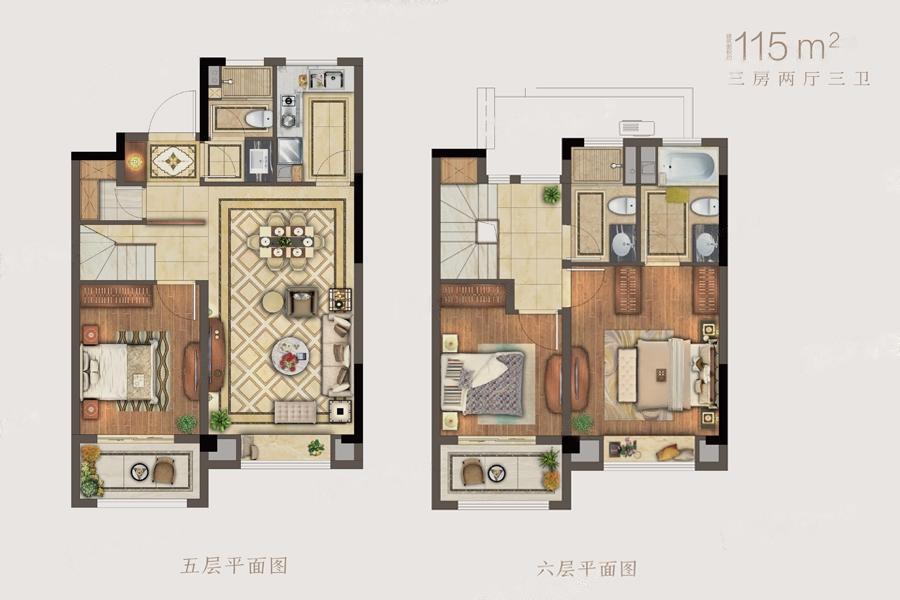 湖光晨樾  3室2厅1厨3卫