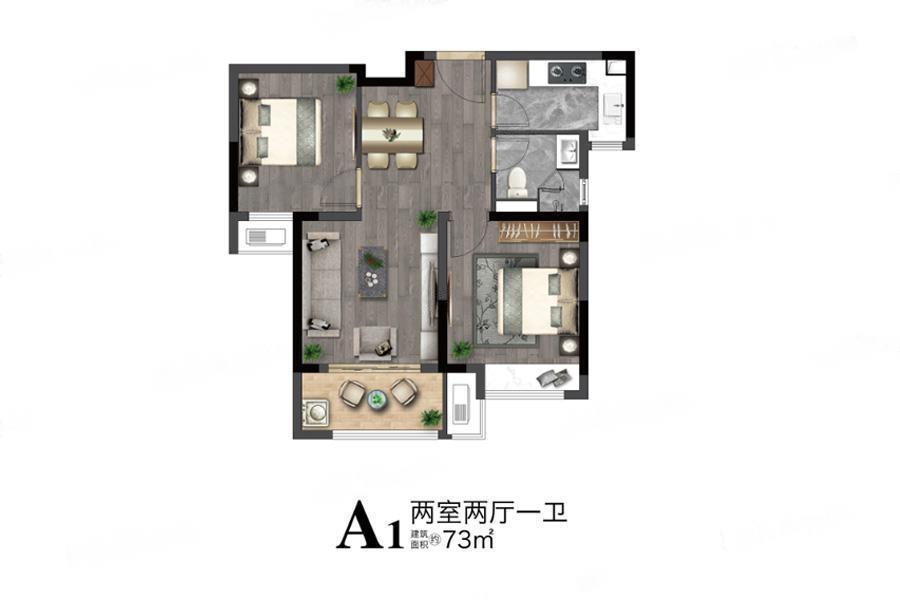 望东国际  2室2厅1厨1卫