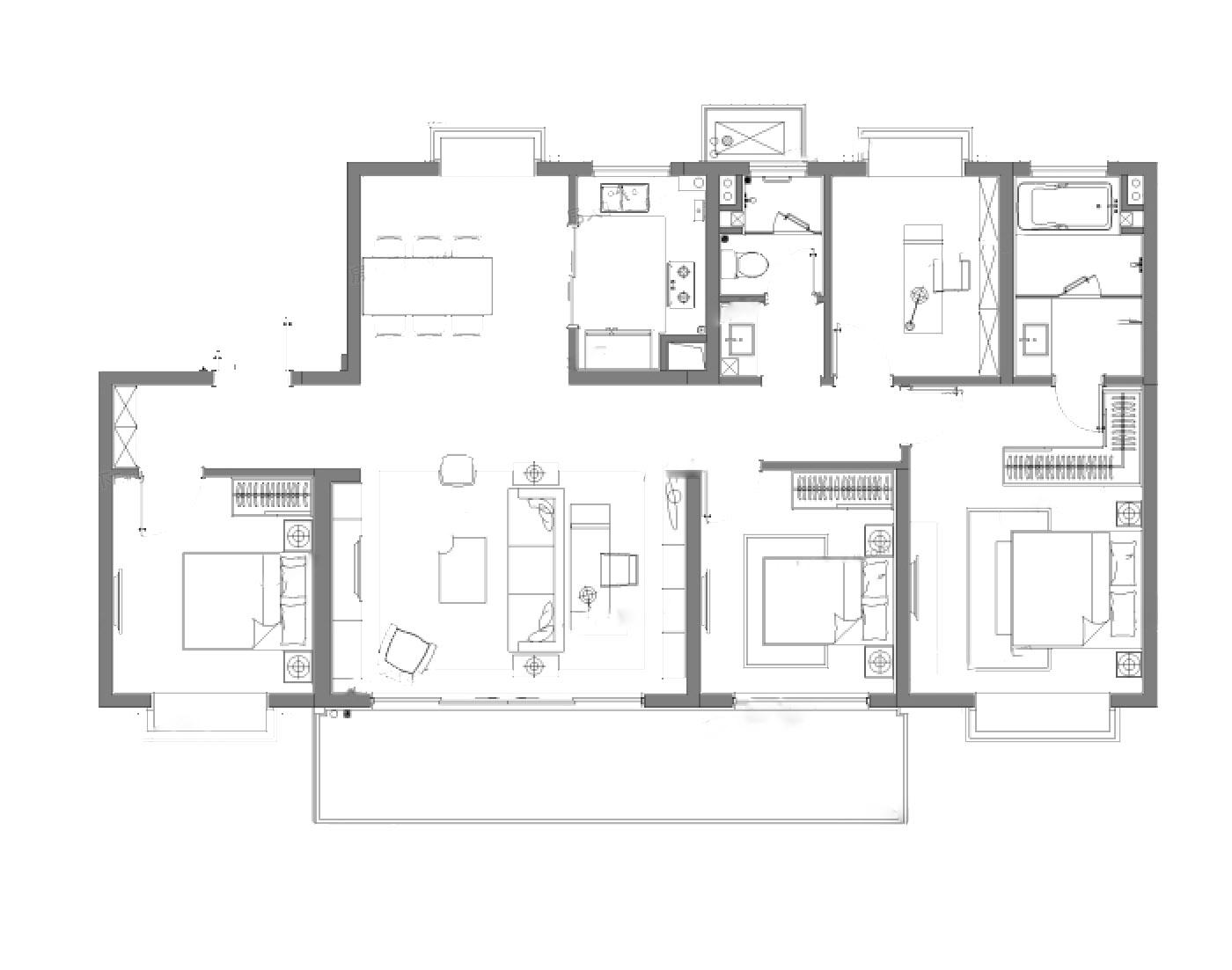 南京云际花园  4室2厅1厨2卫