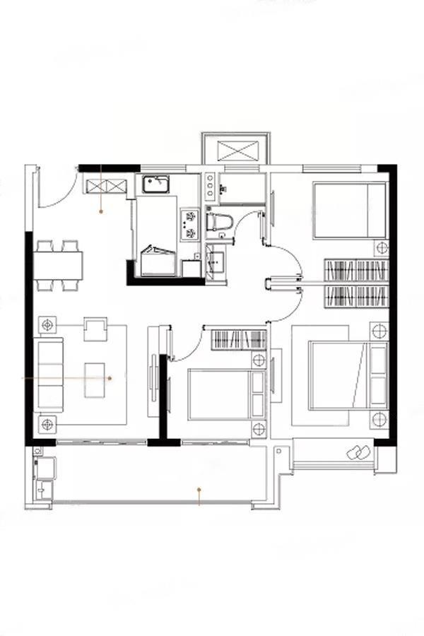 云逸都荟花园西区  3室2厅1厨1卫
