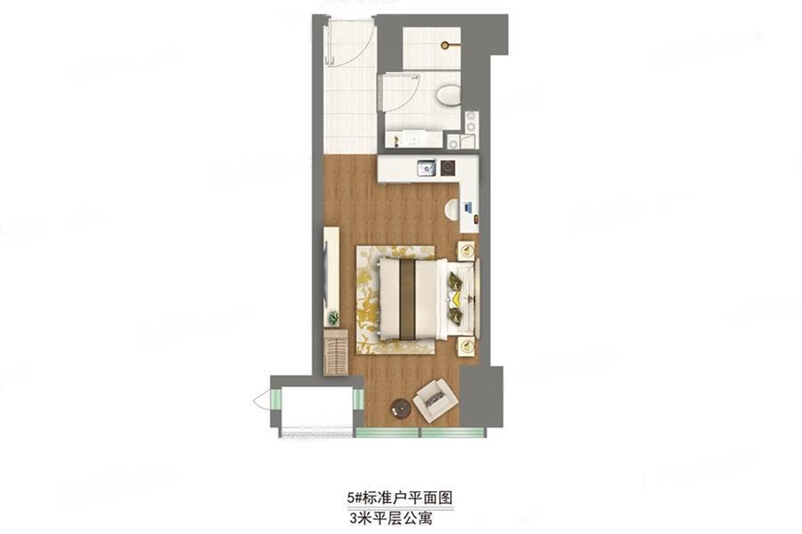祥云悦广场  1室0厅1厨1卫