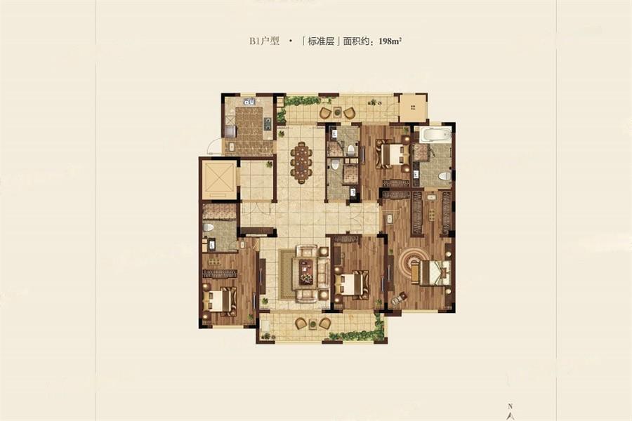 高科紫微堂  4室2厅1厨4卫