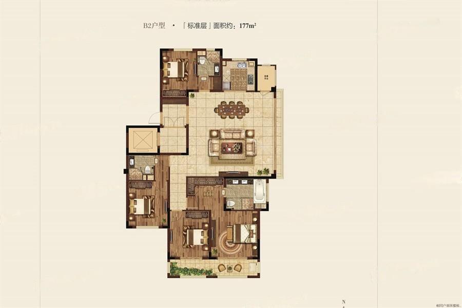 高科紫微堂  4室2厅1厨3卫