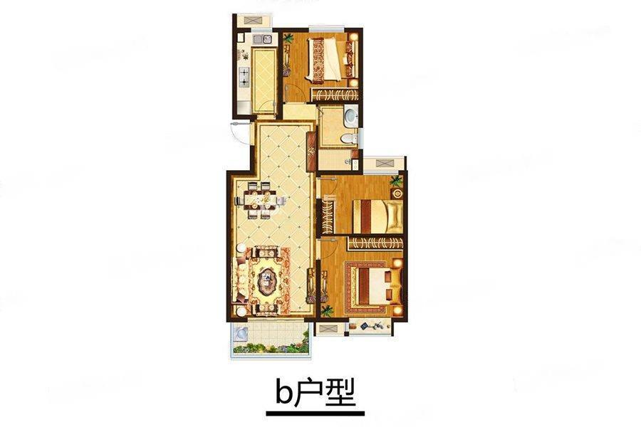 中垠紫金观邸  3室2厅1厨1卫