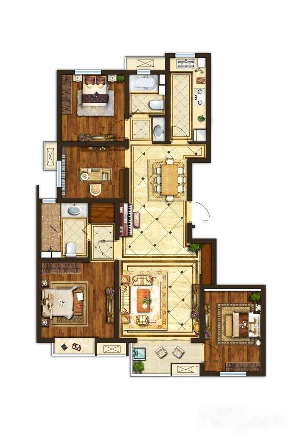 中垠紫金观邸  4室2厅1厨2卫