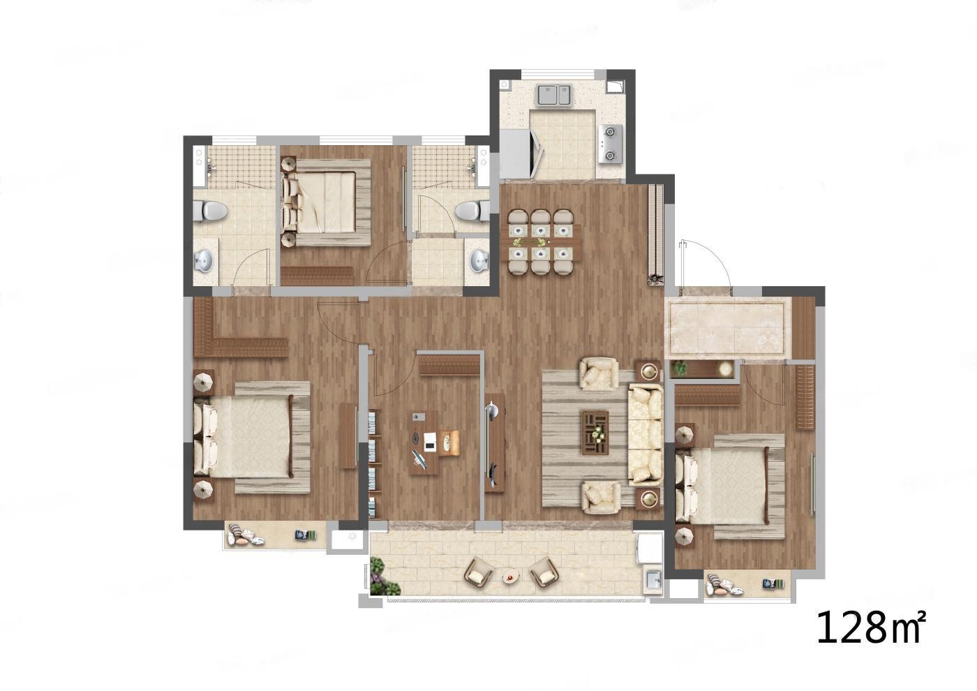 中建熙元府  4室2厅1厨2卫