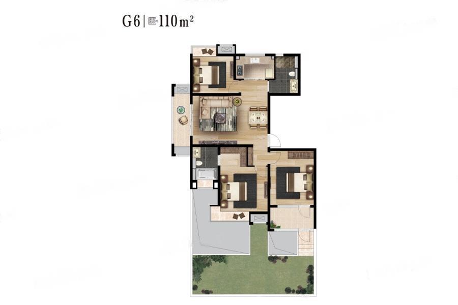 石林云城  3室2厅1厨2卫