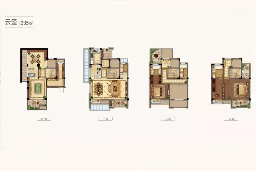 融创中南御园  2室3厅1厨4卫