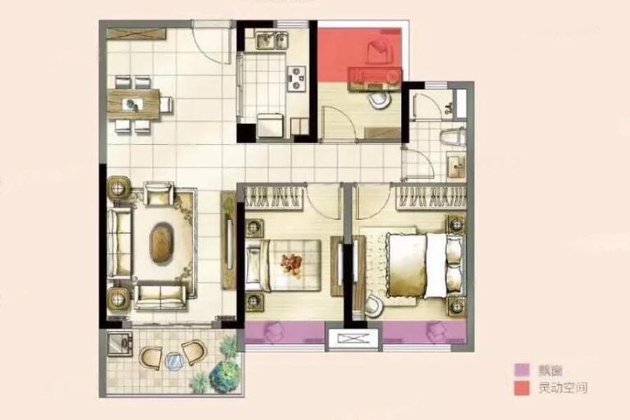 高淳雅居乐花园  3室2厅1厨1卫
