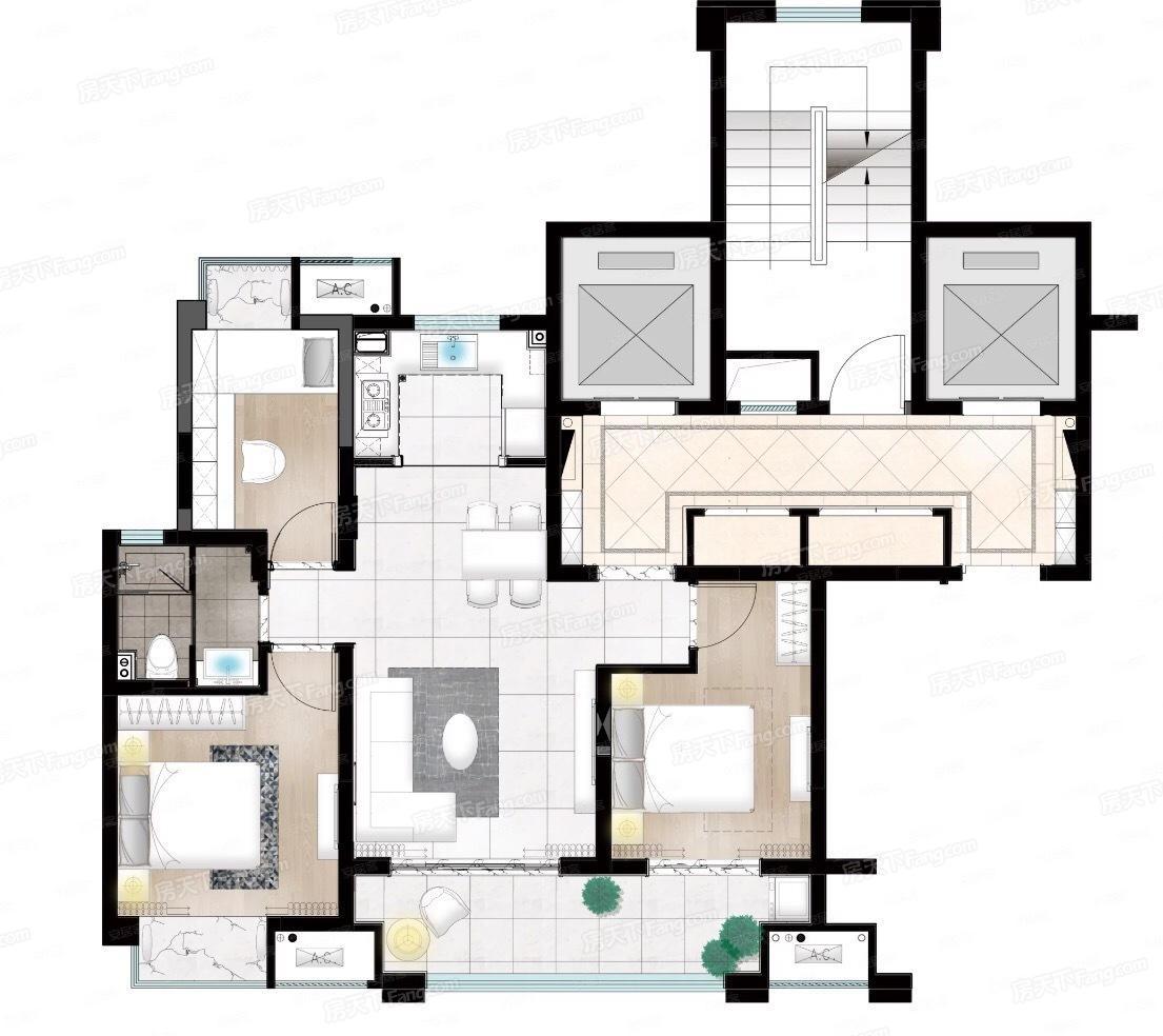 印江南花园  3室2厅1厨1卫