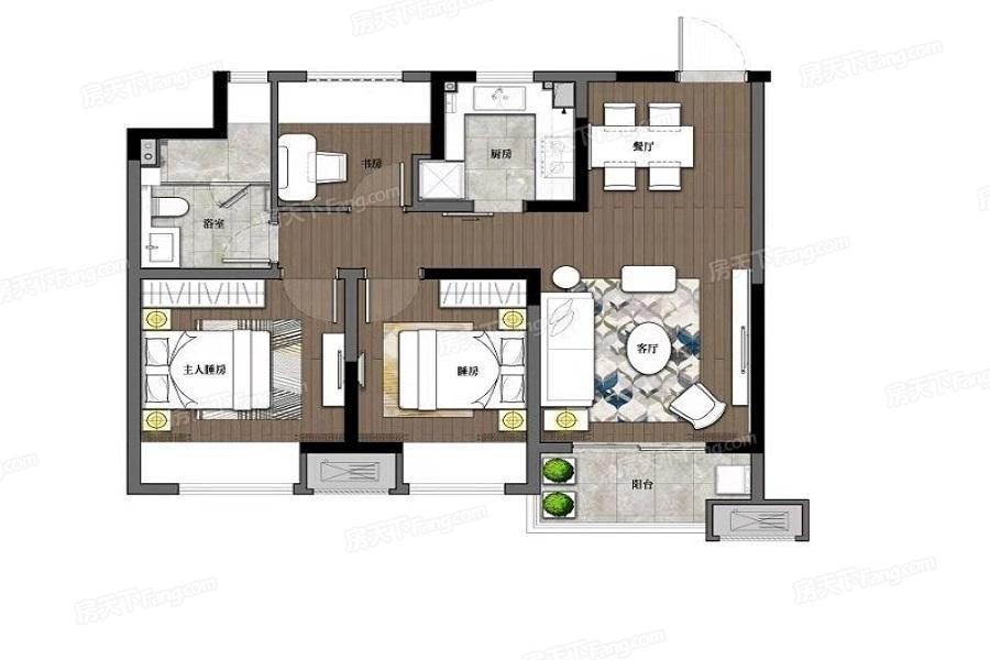 路劲甪澄时光花园  3室2厅1厨1卫