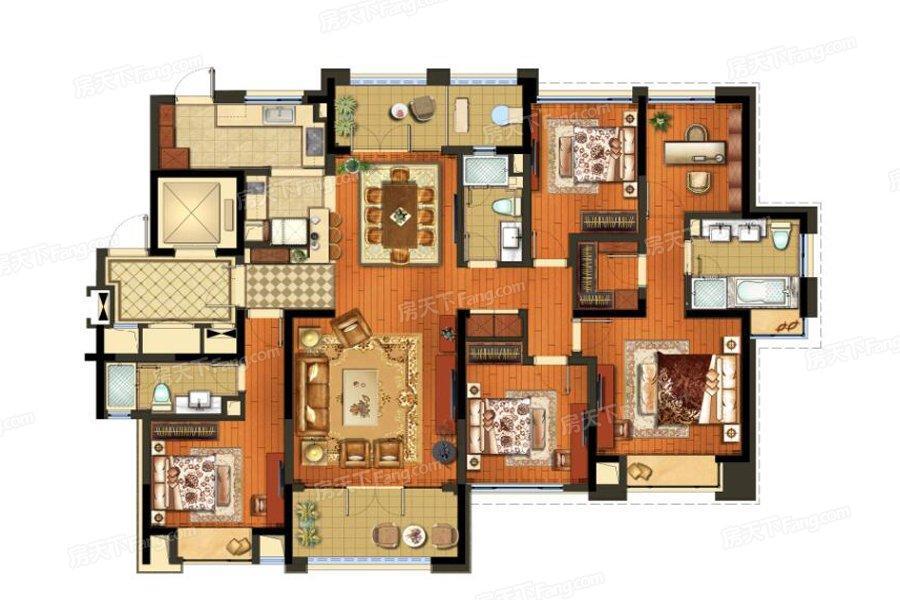 颐和湾花园  5室2厅1厨3卫