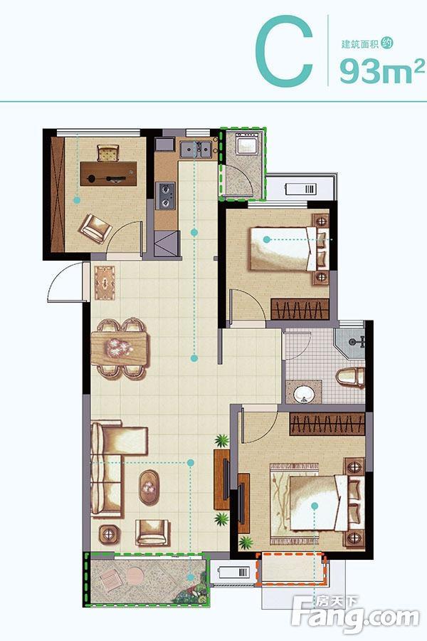 华丽家族太湖汇景  3室2厅1厨1卫