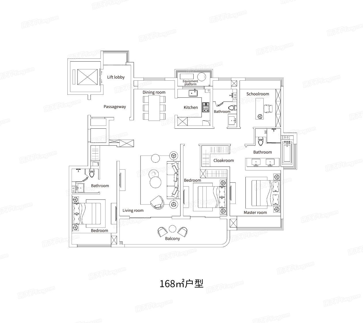 金融街融悦湾  4室2厅1厨3卫