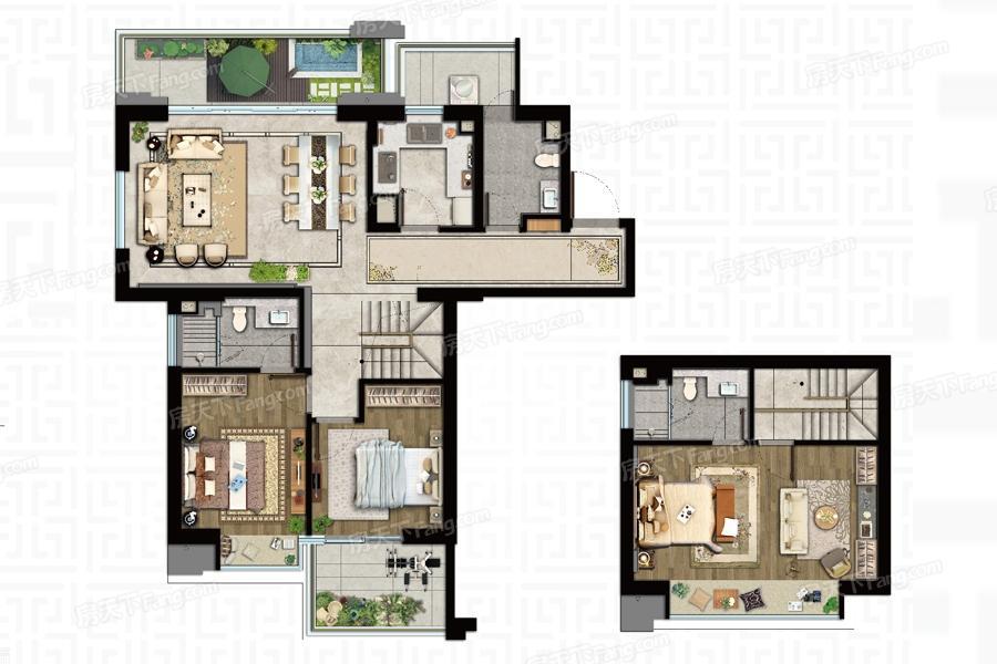 泰禾金尊府  3室2厅1厨3卫
