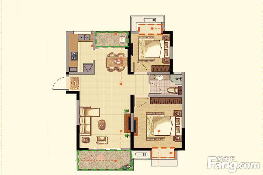 华丽家族太湖汇景  2室2厅1厨1卫