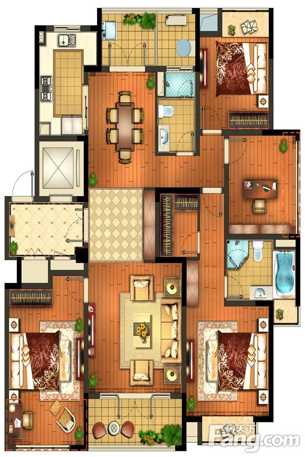 颐和湾花园  4室2厅1厨2卫