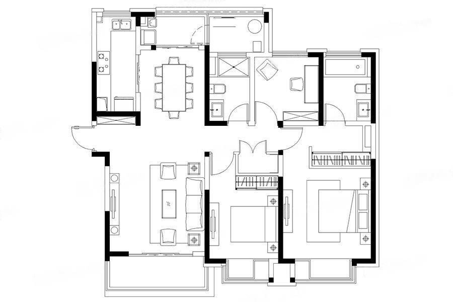 江湾雅园  3室2厅1厨2卫