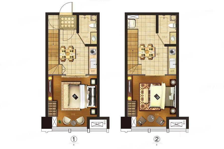 星光耀广场  2室2厅2厨2卫