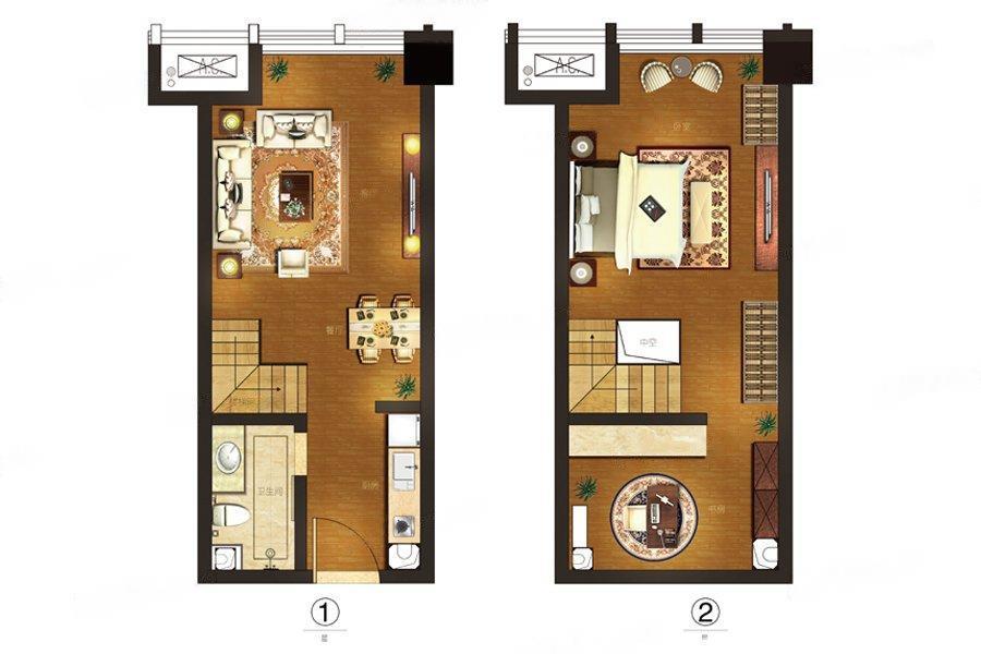 星光耀广场  1室1厅1厨1卫