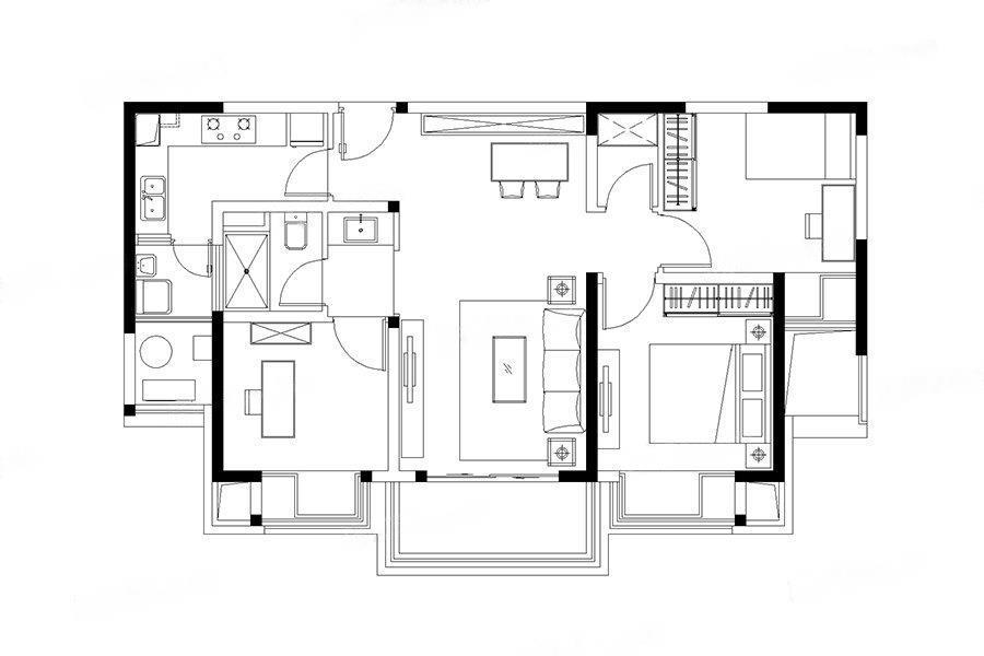 江湾雅园  3室2厅1厨1卫