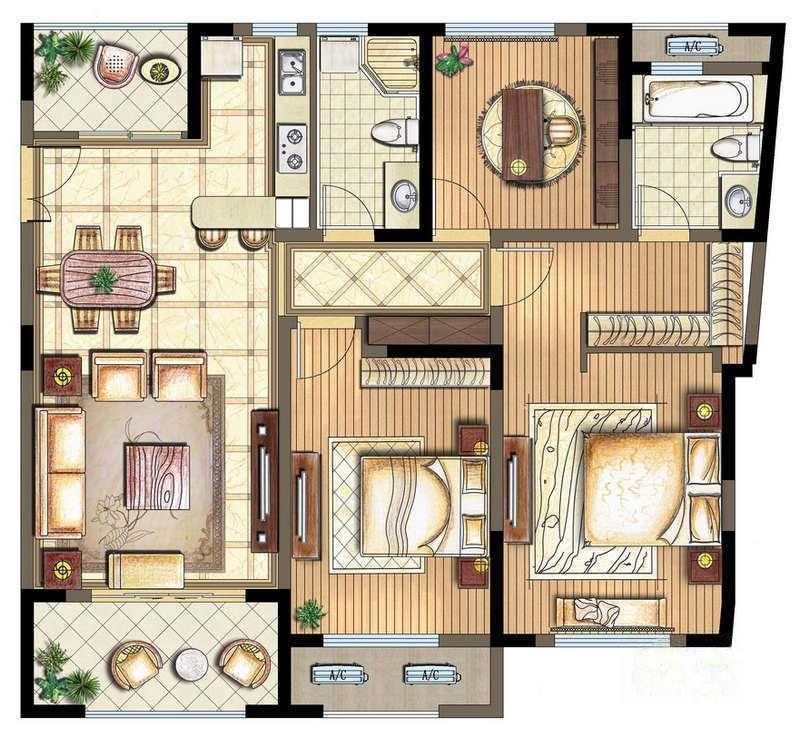 万宇名都花园  3室2厅1厨2卫