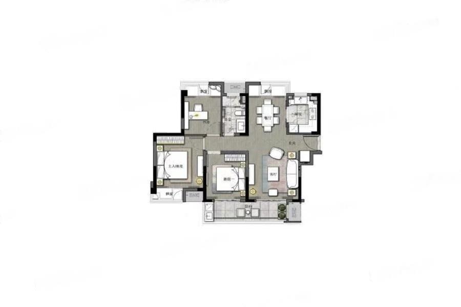 璞玉风华苑  3室2厅1厨1卫