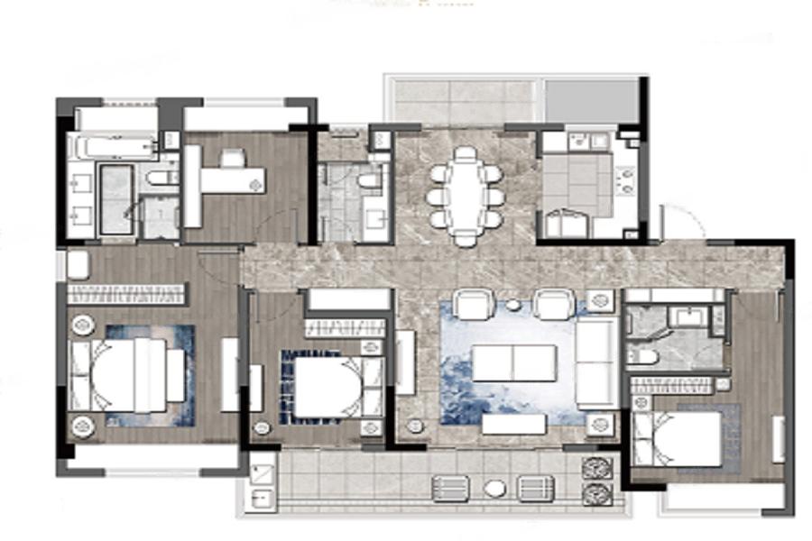 璞玉风华苑  4室2厅1厨3卫