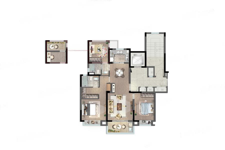 雍宁府  3室2厅1厨2卫