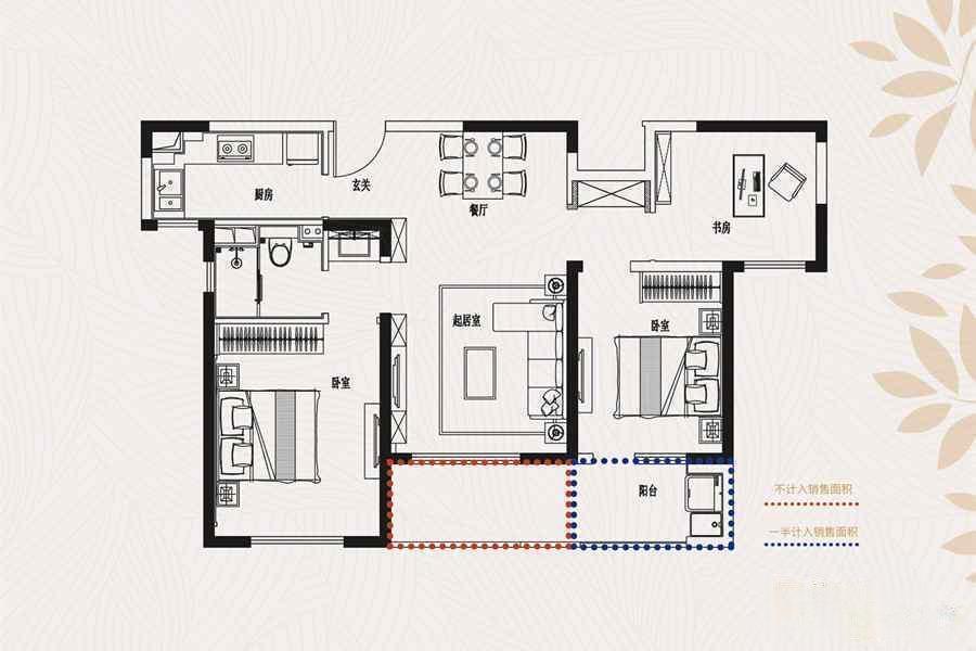 金象朗诗红树林  3室2厅1厨1卫