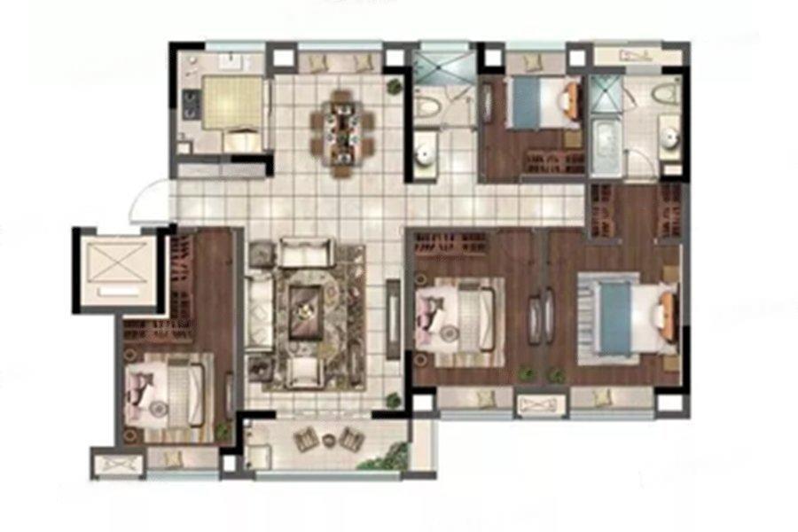 花样年家天下  4室2厅1厨2卫