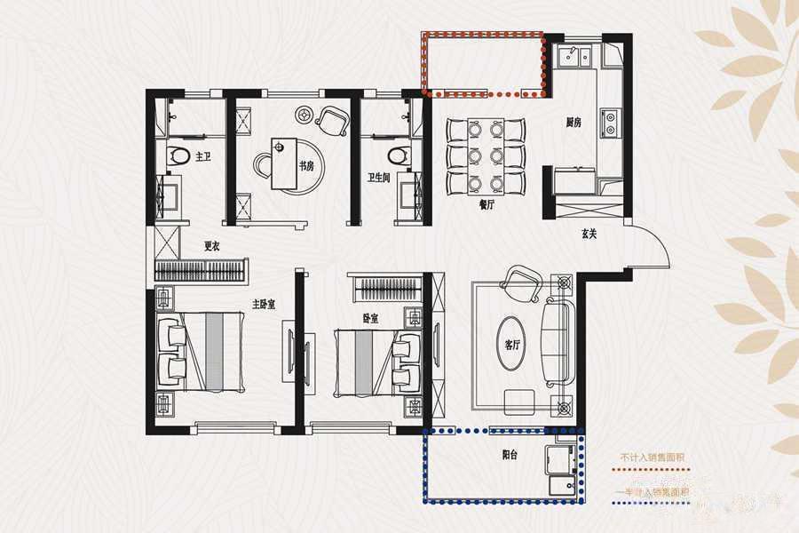金象朗诗红树林  3室2厅1厨2卫