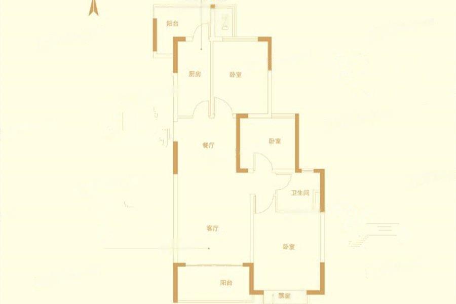 恒大龙珺  3室2厅1厨1卫
