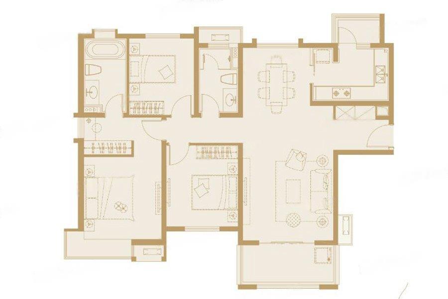 嘉誉山  3室2厅1厨2卫